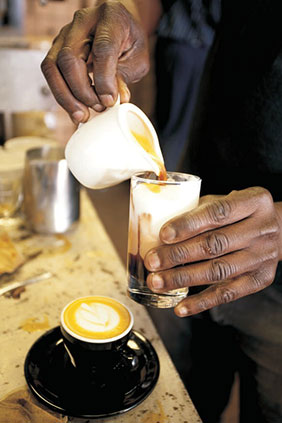 Barrista at work